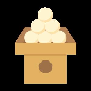 三方の饅頭